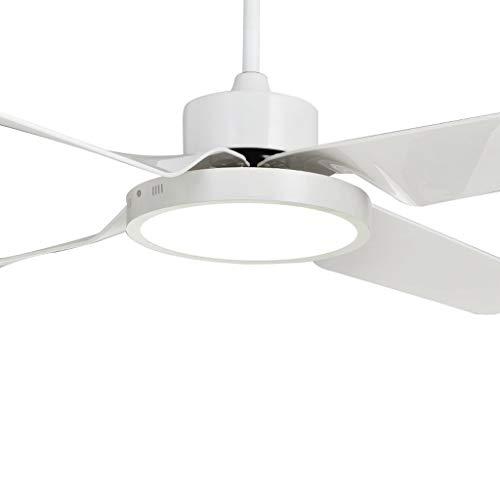 YULAN Ventilador de Techo Dormitorio LED con luz Interior Restaurante de Ventilador El Nuevo Motor DC más silencioso y de bajo Consumo de energía, decoloración de Tres Luces, 24 W (Size : 48 I