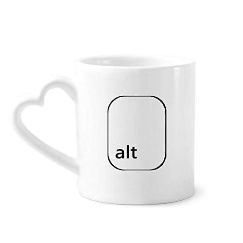 DIYthinker Teclado de símbolos alt café cerámica Taza de cerámica con la manija 12 oz Regalo del corazón