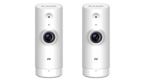 D-Link Dome Cameras HD Mini Indoor WiFi Security 2-Pack White- DCS-8000LH/2PK-US