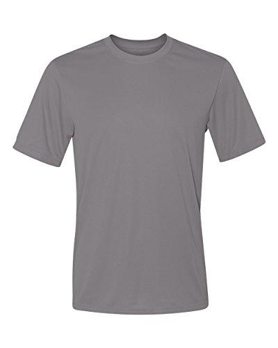 Hanes Cool DRI TAGLESS Men`s T-Shirt, Graphite, Medium