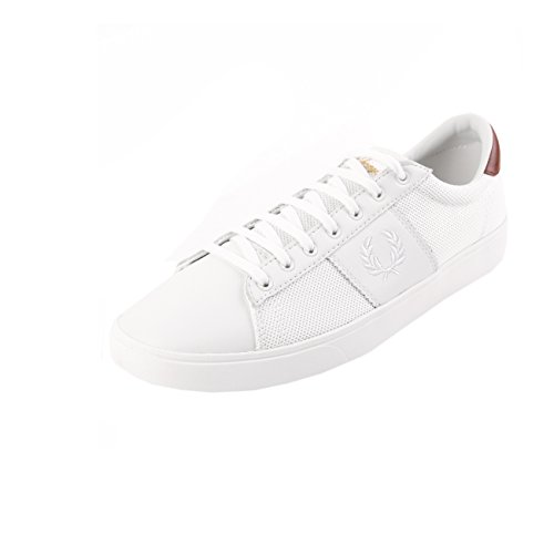 Fred Perry Spencer Mesh Leahter Porcelain White B1202254, Deportivas
