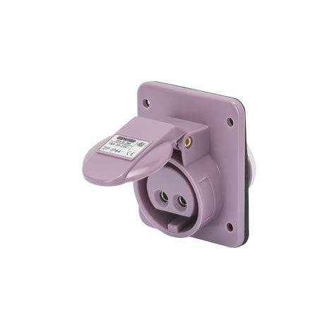 Gewiss - Toma fija empotrable 2P 16 A IP44 violeta 24 V GW62265