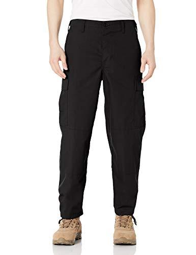 Tru-Spec Pantaloni Tattici in Tessuto Ripstop di Poliestere e Cotone, da Uomo, BDU, Uomo, 1324005, Nero, L