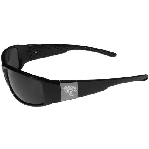 Siskiyou NFL Fan Shop Sonnenbrille, geätzt, Chrom, 2FCW175, Schwarz , Einheitsgröße