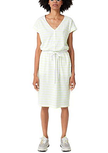 s.Oliver Damen 21.906.82.7538 Kleid, Weiß (White Stripes 01g0), (Herstellergröße: 38)