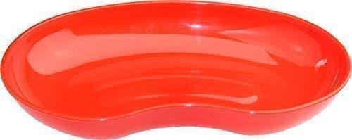 Medi-Inn Nierenschale aus Kunststoff | rot - 5 Stück | wiederverwendbar | lebensmittelecht, desinfizierbar, autoklavierbar | stabil & vielseitig einsetzbar