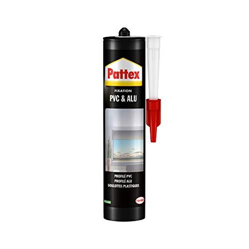 Pattex 1956425 Montagekleber für Aluminium und PVC, Weiß