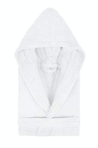 Lasa Pure - Bademantel mit Kapuze. Größe XL, col. weiß