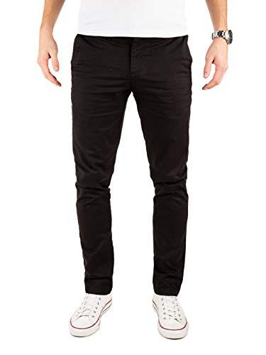 Yazubi Chino Hose - Kyle by Yzb Jeans Slim Fit - Herren Stoffhose Chinohosen Schwarze Business Männer Chinos, Schwarz (Black 4R194008), W40/L30