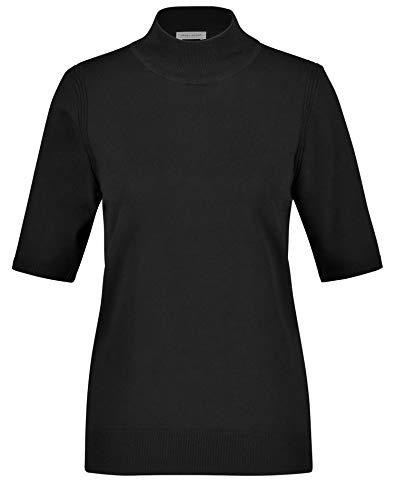 Gerry Weber Damen 1/2 Arm Pullover mit Turtleneck figurumspielend Schwarz 44