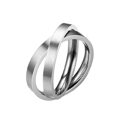 anillos, anillos creativos, usando acero inoxidable, diseño de doble anillo giratorio individual, macho o hembra general {dimensión 612}