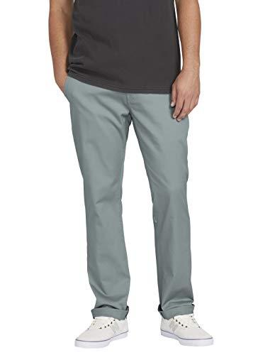 Volcom Frickin Pantalón chino elástico de ajuste moderno para hombre -  Azul -  56