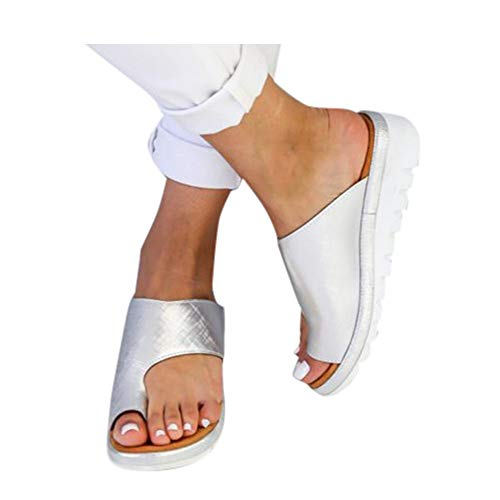 Womens Slippers,Women's 2020 New Comfy Platform Toe Ring Wedge Sandals Shoes Summer Beach Travel Shoes Comfortable Flip Flop Shoes