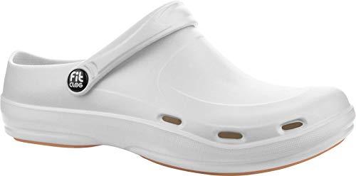 FitClog - Calzado especializado Certificado - diseñado para largas Horas de Trabajo diarias - Blanco (39 EU, Blanco)