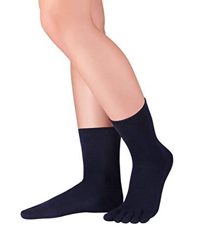 Knitido Essentials Midi, halb hohe Zehensocken aus 85prozent Baumwolle, für jeden Tag, für Damen & Herren, Größe:43-46, Farbe:Navy (806)