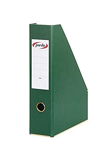 PARDO 245504 - Revistero archivador extra forrado, color verde