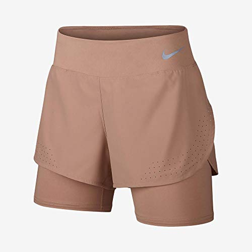 NILCO|#Nike Eclipse 2IN1 Shorts, Donne Donna, Rose Gold/Reflective Silv, L