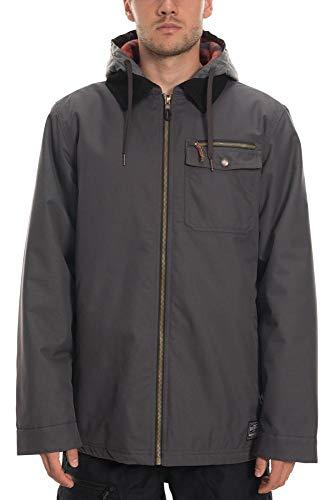 686 Men's Garage Insulated Jacket - Waterproof Ski/Snowboard Winter Coat, Charcoal, Large