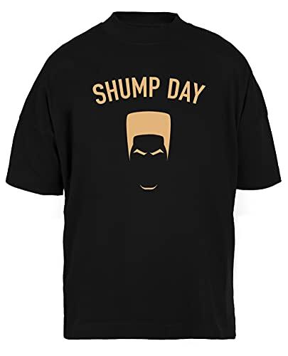 Luxogo Shump Day Unisex Nera Holgada Camiseta Hombre Mujer Baggy Men's Women's Black T-Shirt