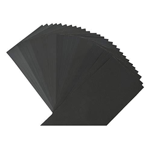 Lot von 27 Schleifpapier, LukyTimo Schleifpapier 23 x 9,3 cm Nass trocken 400/600/800/1000/1200/1500/2000/2500/3000 (3 x 14) Blätter / Körner (27)