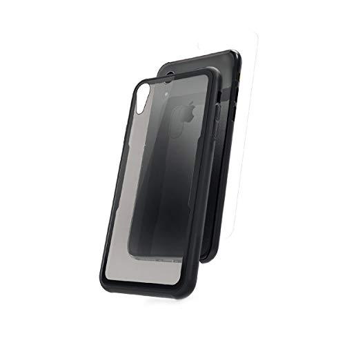 Muvit MUBKC1032 - Pack de Protector Pantalla y Carcasa para Apple iPhone XR, Marco Negro
