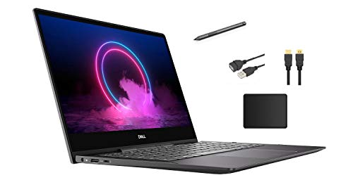 Dell Inspiron 13.3' 4K Ultra HD 2-in-1 Touch-Screen Laptop Bundle Woov Accessory | Intel Quad-Core i7-10510U | 16GB DDR4 | 512GB SSD +32Goptane | Backlit Keyboard | Active Pen | Windows 10 | Black