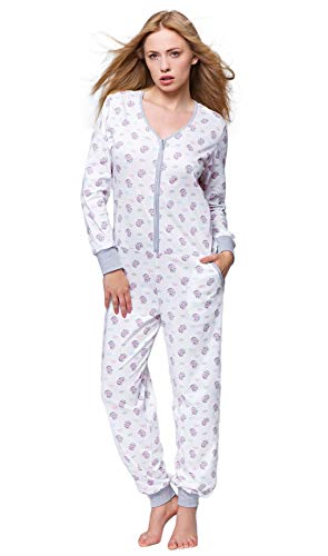 SENSIS trendy slaappak-overall/jumpsuit (made in EU) Alleen met schattig printpatroon, 100% katoen