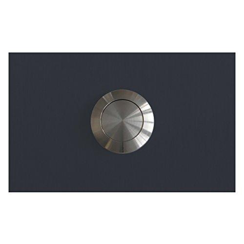 MOCAVI RING 130 Edelstahl-Design-Klingel anthrazitgrau matt RAL 7016 rechteckig (8 x 5 x 2), Klingeltaster