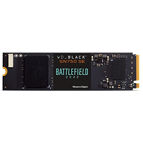 WD_BLACK 500GB SN750 SE NVMe SSD with Battlefield 2042 Game Code Bundle - Gen4PCle, Internal Gaming SSD Solid State Drive, M.2 2280, Up to 3,600 MB/s - WDBB9J5000ANC-NRSN