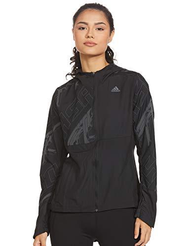 adidas Own The Run JKT Chaqueta, Mujer, Negro/refsil, XS