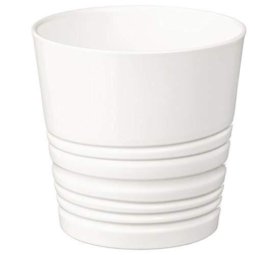My- Stylo Collection - Vaso per piante, bianco, 9 cm, altezza 11 cm, diametro esterno: 12 cm, diametro massimo vaso: 9 cm, diametro interno: 11 cm, materiale terracotta