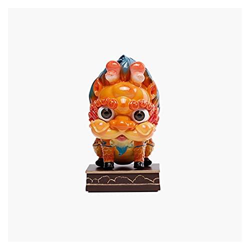QIAOLI Escultura mitológica china decoración de escritorio criaturas figura, lindo adorno decorativo de mesa para decoración del hogar, gabinete, escritorio, oficina decoración (color: A)