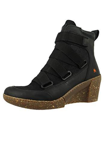 art Damen Keil-Stiefelette Ankle Boot Rotterdam Black Schwarz 1566, Groesse:38 EU