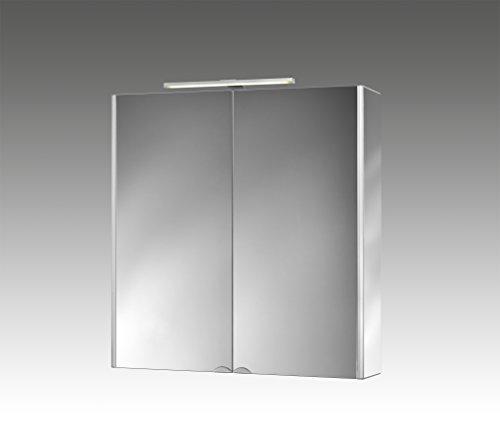 Jokey Spiegelschrank DekorAlu Aluminiumspiegelschrank mit Beleuchtung Breite 67 cm Badspiegel von Jokey verspiegelt