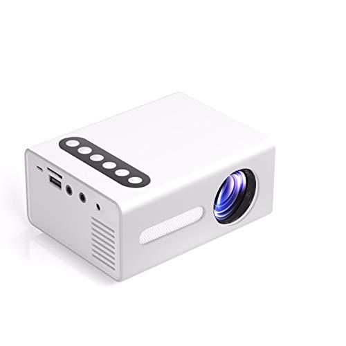 TTHH Home HD-Projektor, Tragbarer LED-Projektor 1080P, HDMI HD-Eingang, 20.000 Stunden Lichtdauer, Projektionsgröße 16-100 Zoll, Eingebauter 3-W-Lautsprecher Für Home Outdoor Entertainment Office Whit