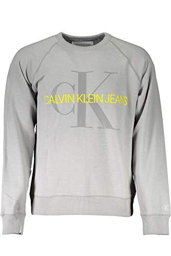 Calvin Klein Jeans Herren Vegetable Dye Monogram Crew Neck Sweatshirt, Grau (Antique Grey Ps7), Medium