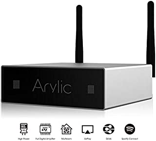 WiFi & Bluetooth Stereo Audio Digital Amplifier -Wireless Streaming Airplay DLNA,Multiroom Sync, HiFi Integrated Amp for Home Speakers, 24bit 192 kHz,80W-Arylic A50