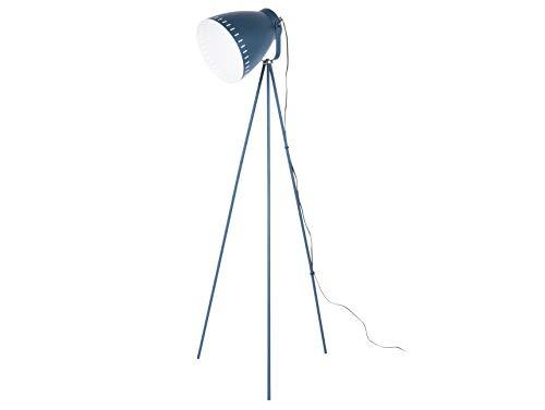LEITMOTIV vloerlamp Mingle 3-voet metaal donkerblauw, ijzer