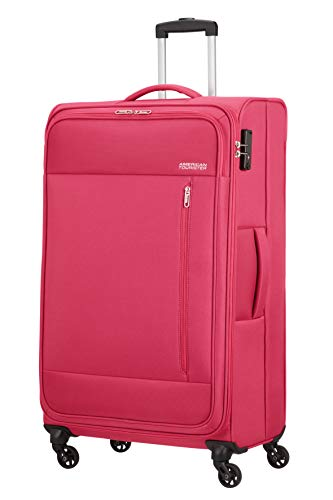 American Tourister Heat Wave - Spinner XL Suitcase, 80 cm, 92 Litre, Pink (Magenta)