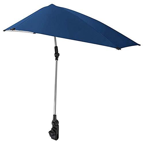 GU YONG TAO Verstellbarer Regenschirm mit Universalklemme - Strandklemmschirme Verstellbar drehbar für Gartenstühle, Kinderwagen Rollstühle Golfwagen