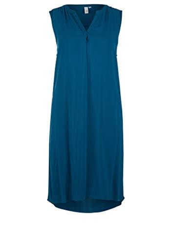 Q/S designed by - s.Oliver Damen Leichtes Kleid aus Viskose Petrol 38