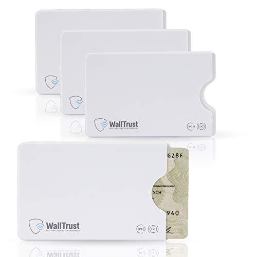 WallTrust RFID Schutzhülle für Kreditkarten, Plastik, TÜV, 3er Set, Weiß