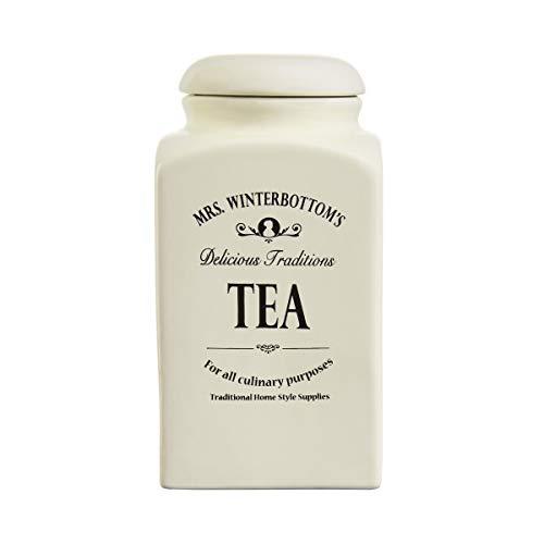BUTLERS MRS. WINTERBOTTOM'S Teedose 1,3 l in Creme - Vintage Vorratsdose aus Steingut im englischen Design - stilvolle, klassische Aufbewahrung