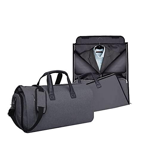 Calma Dragon Bolsa Portatrajes, Funda de Viaje para Trajes y Vestidos, Carry-On Garment Bag, con Compartimentos para Zapatos y Correa Ajustable para Hombro, Ideal para Negocios, para Avión (Negro)