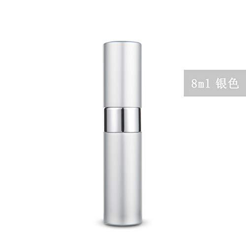 Bouteille de parfum en aluminium en aluminium vaporisateur argent 8 ml