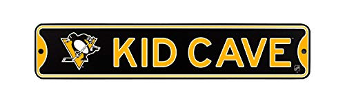 Authentic Street Signs NHL Hockey Officially Licensed Steel Kid Cave Sign-Decor for Sports Fan Bed Room! (Pittsburgh Penguins)