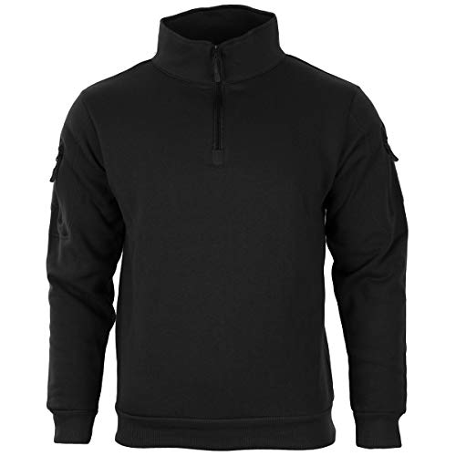 Mil-Tec Tactical Sweat-Shirt m.Zipper schwarz Gr.L