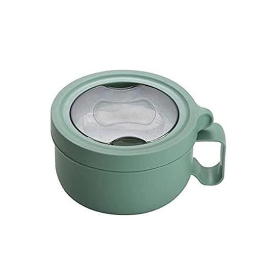 TFJJSQA Especial/Simple Caja de Almuerzo de Acero Inoxidable con Tapa de Fruta Ensalada de Fideos arroz bento Caja portátil Estudiante contenedor de Alimentos 0414 (Color : Green)