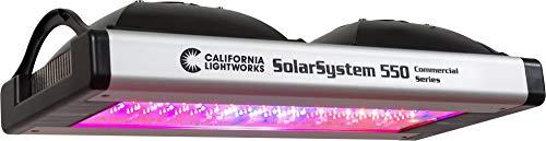 California Lightworks Solar System 550 LED Grow Light Fixture 400 watts Programmable Spectrum LED Commercial Lighting System Veg Bloom
