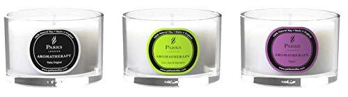 Parks of London - Juego de 3 velas de aromaterapia (11 cl)